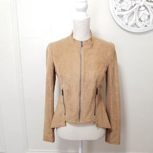 BCBGmaxazria size S faux suede jacket